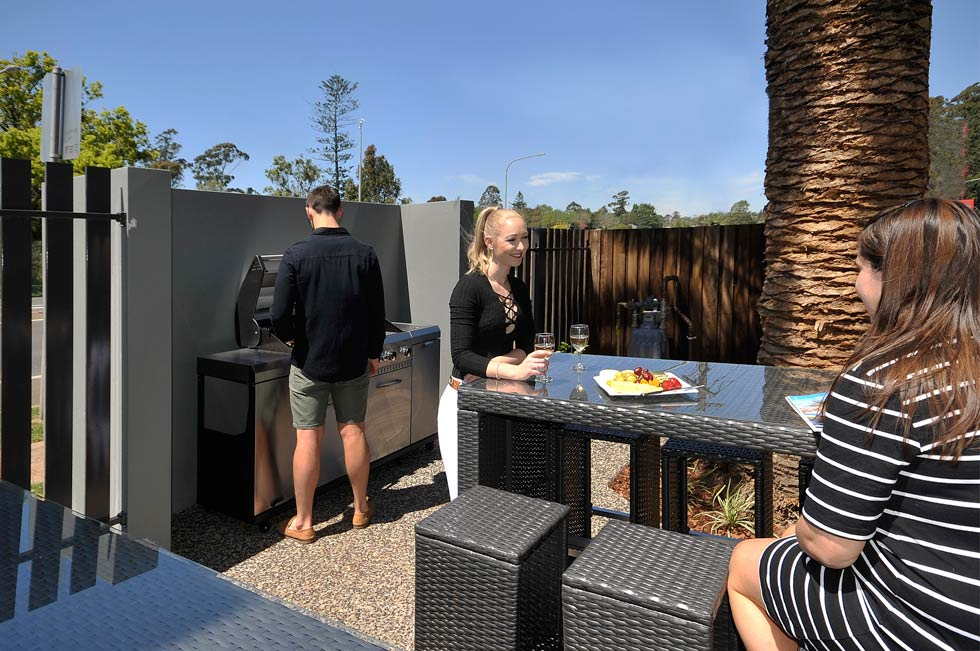 Enjoy the BBQ in the Courtyard.